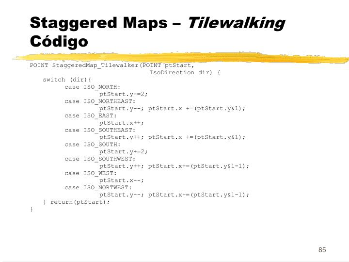 Staggered Maps –