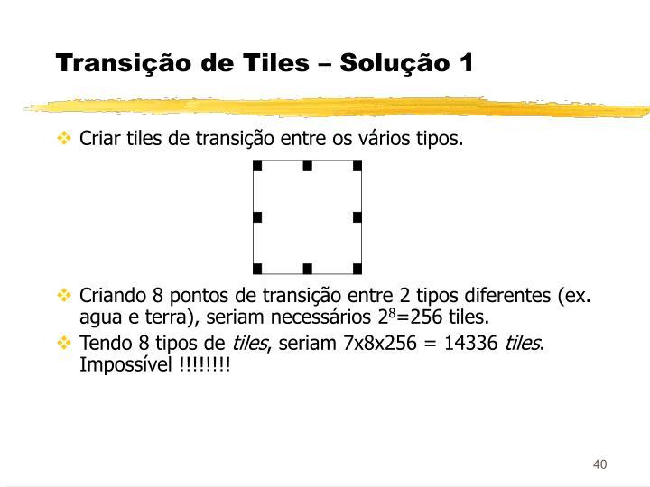 Transição de Tiles – Solução 1