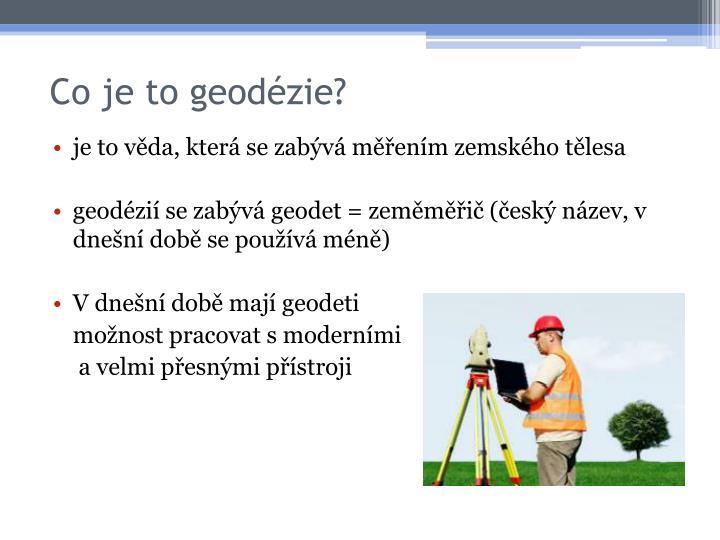Co je to geodézie?