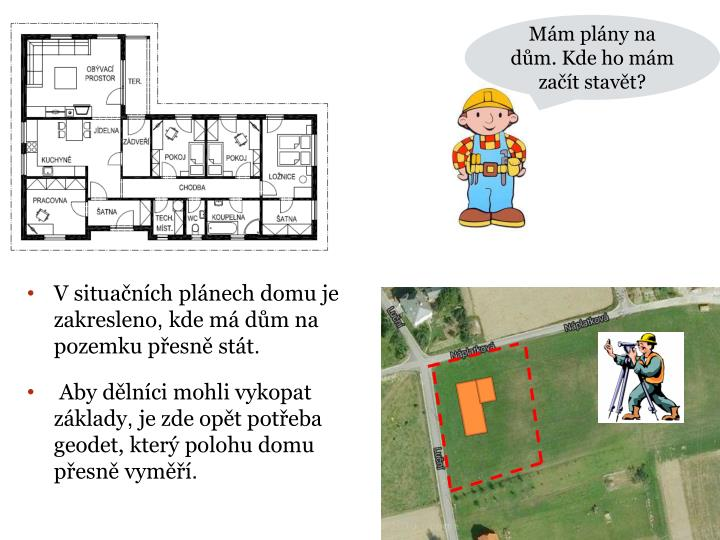 Mám plány na dům. Kde ho mám začít stavět?