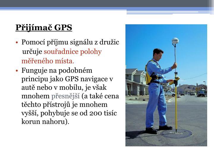 Přijímač GPS
