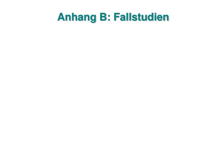 Anhang B: Fallstudien