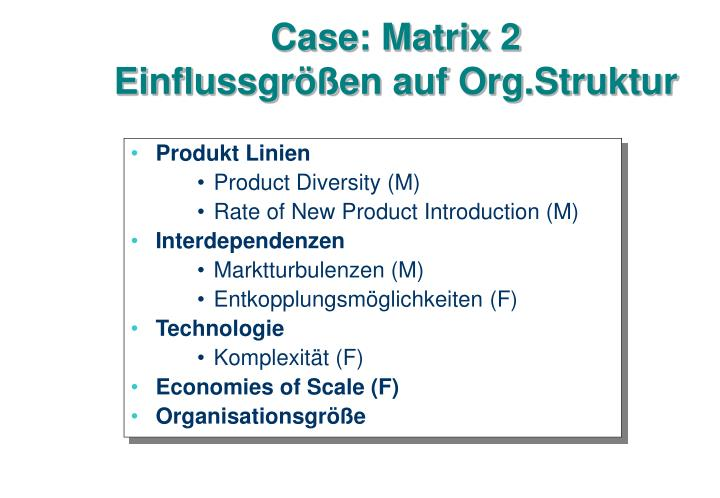 Case: Matrix 2