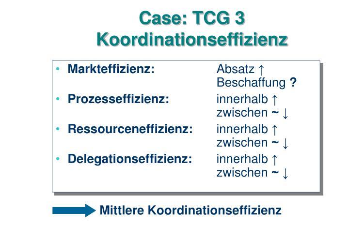 Case: TCG 3