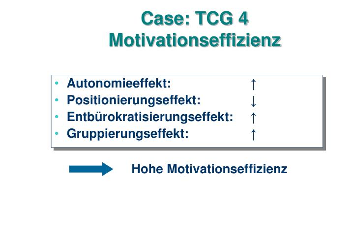 Case: TCG 4