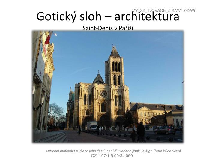 Gotický sloh – architektura