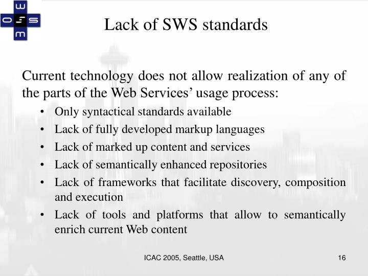 Lack of SWS standards