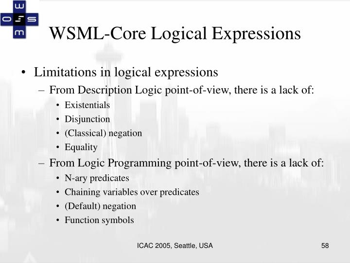 WSML-Core Logical Expressions