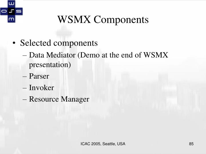 WSMX Components