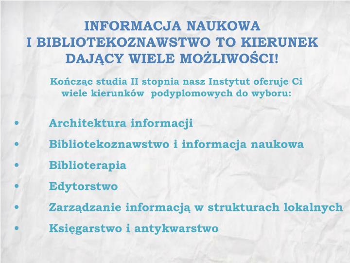 INFORMACJA NAUKOWA