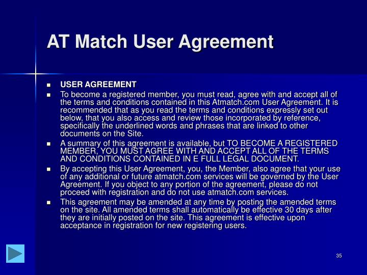 AT Match User Agreement