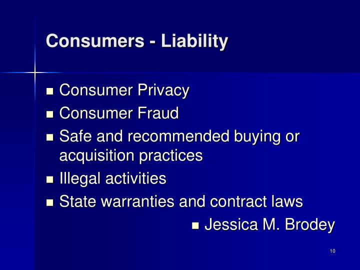 Consumers - Liability