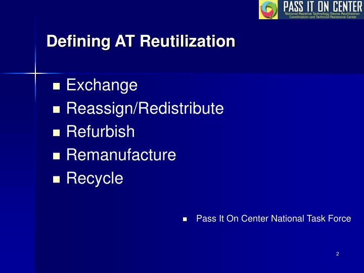 Defining AT Reutilization