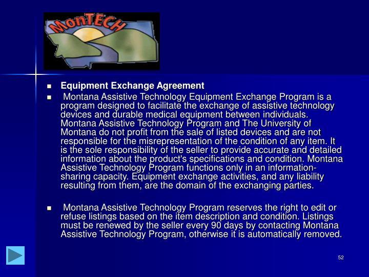 Equipment Exchange Agreement