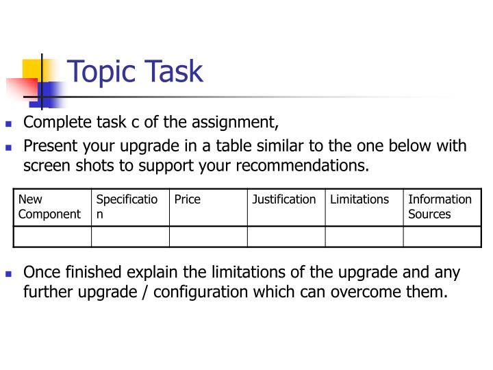Topic Task