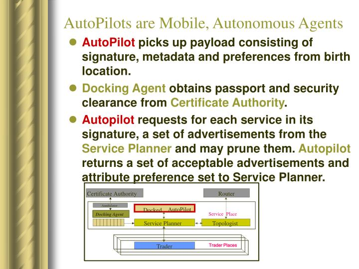 AutoPilots are Mobile, Autonomous Agents