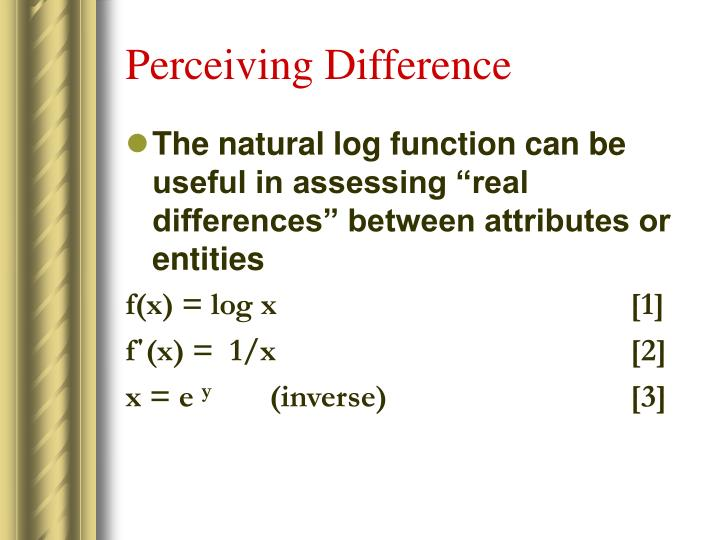 Perceiving Difference
