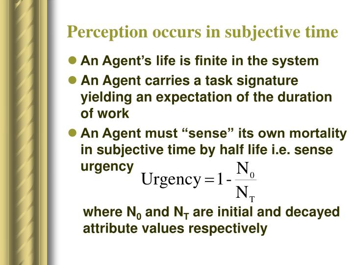 Perception occurs in subjective time