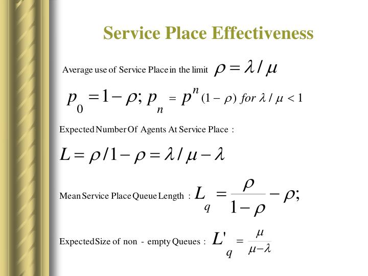 Service Place Effectiveness