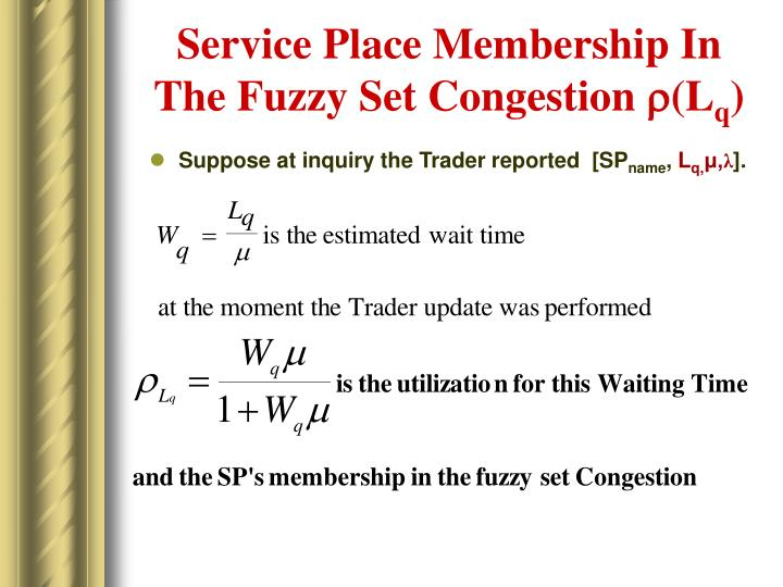 Service Place Membership In The Fuzzy Set Congestion