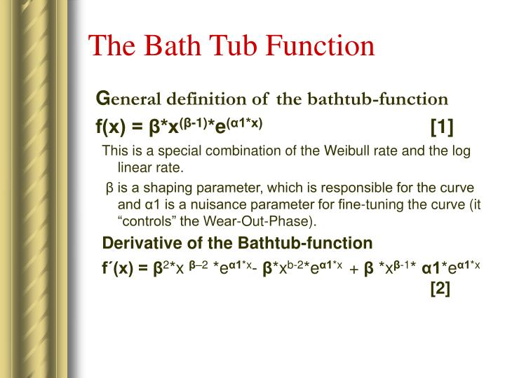 The Bath Tub Function