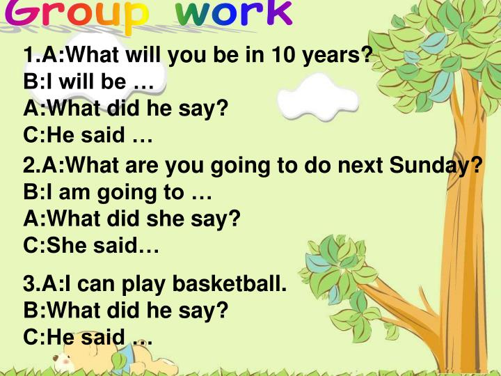 1.A:What will you be in 10 years?