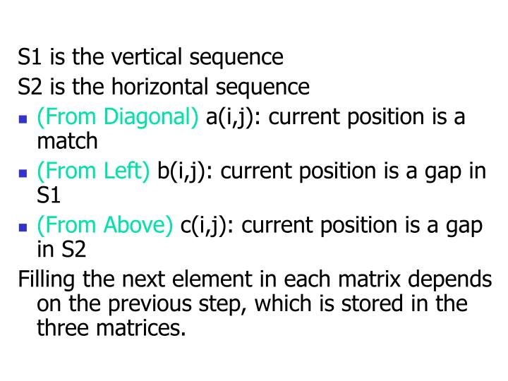 S1 is the vertical sequence