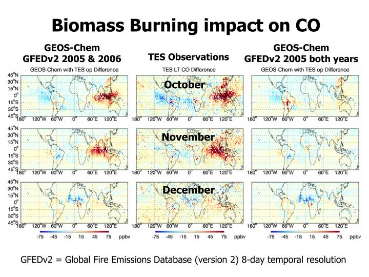 Biomass Burning impact on CO