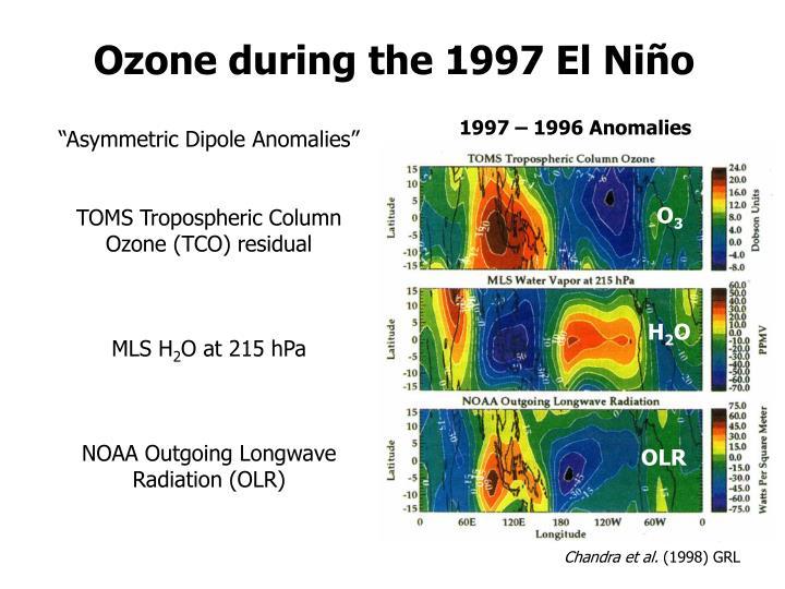 Ozone during the 1997 El Niño