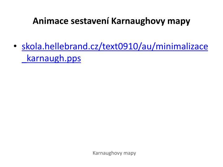 Animace sestavení Karnaughovy mapy