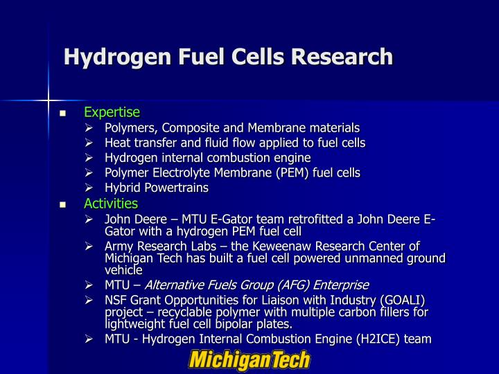 Hydrogen Fuel Cells Research