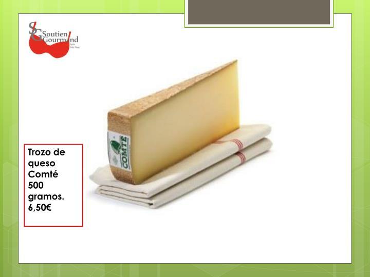 Trozo de queso Comté