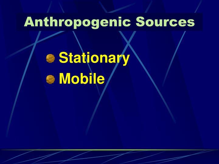 Anthropogenic Sources