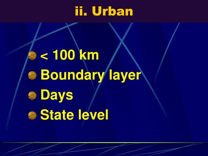 ii. Urban