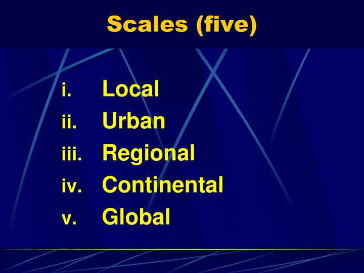 Scales (five)