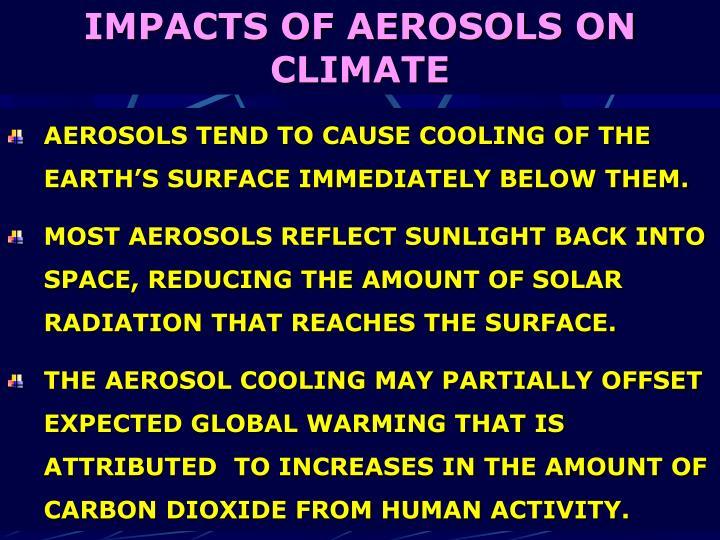 IMPACTS OF AEROSOLS ON CLIMATE