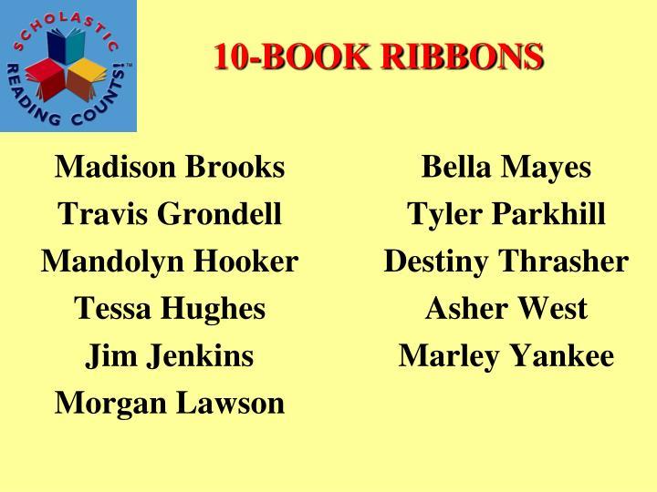 10-BOOK RIBBONS