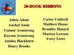 20 book ribbons