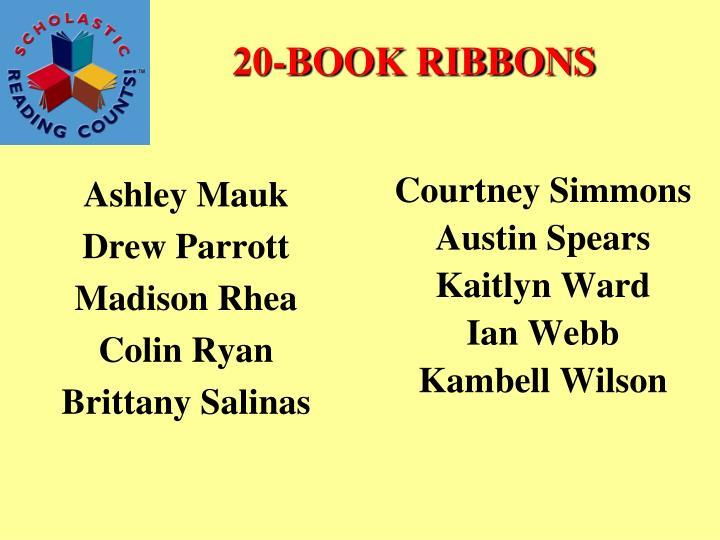 20-BOOK RIBBONS