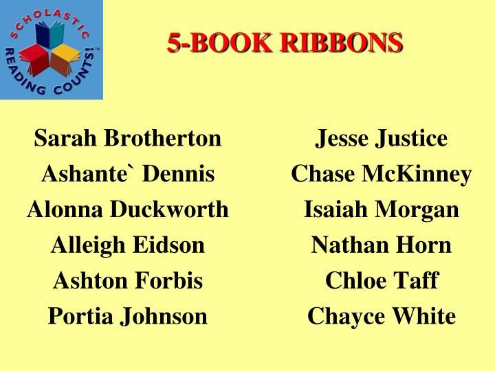 5-BOOK RIBBONS