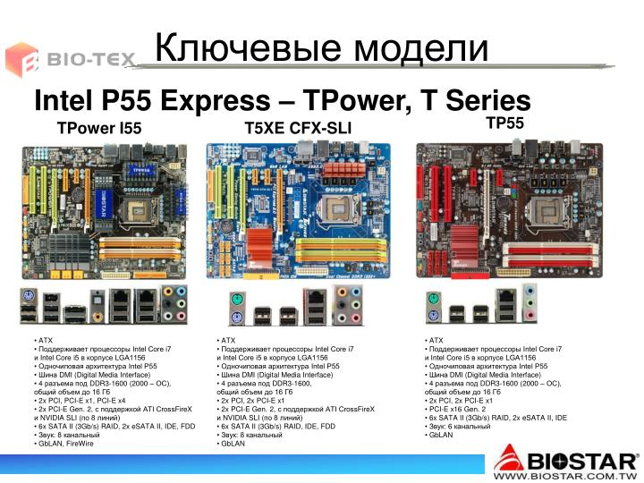 Intel P55 Express – TPower, T Series