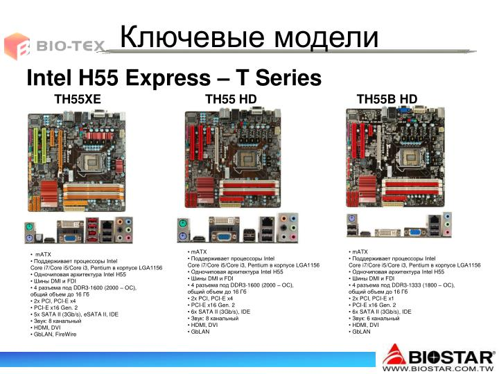 Intel H55 Express – T Series