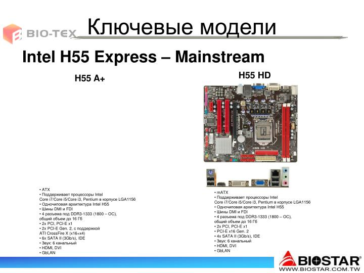 Intel H55 Express – Mainstream