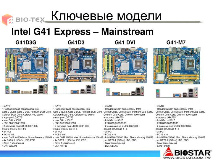 Intel G41 Express – Mainstream