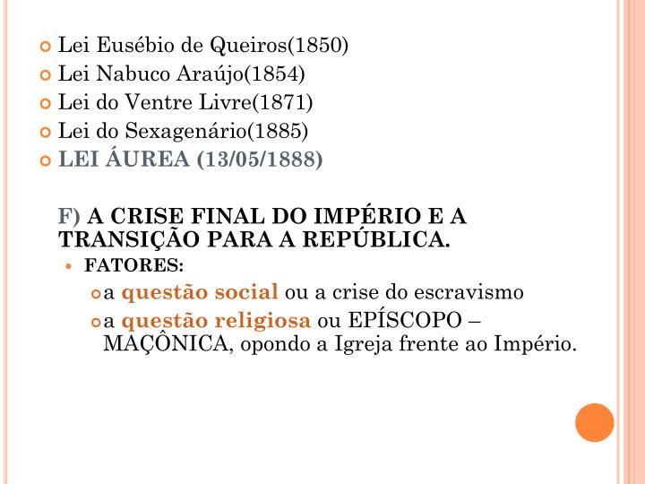 Lei Eusébio de Queiros(1850)