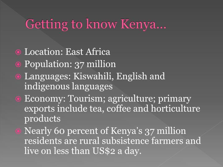 Getting to know kenya