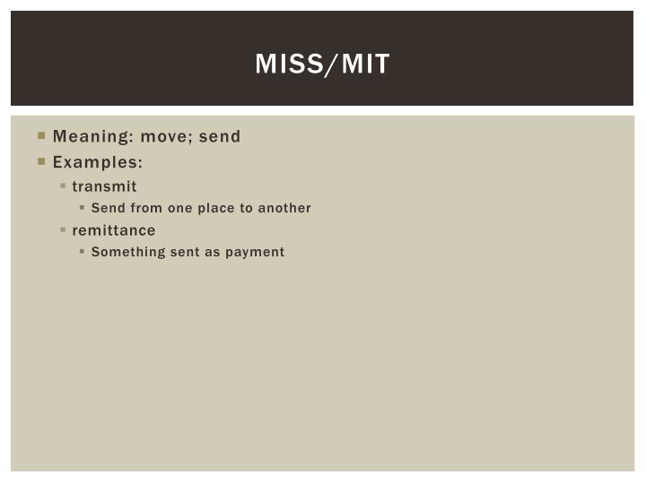 Miss/