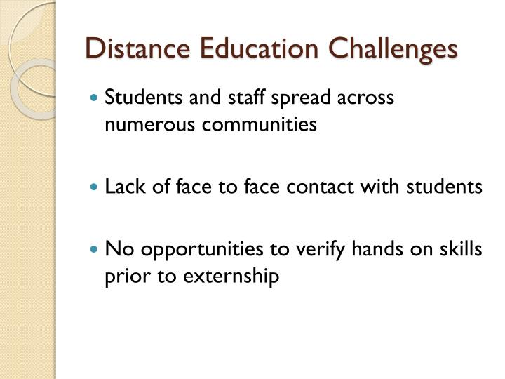 Distance Education Challenges