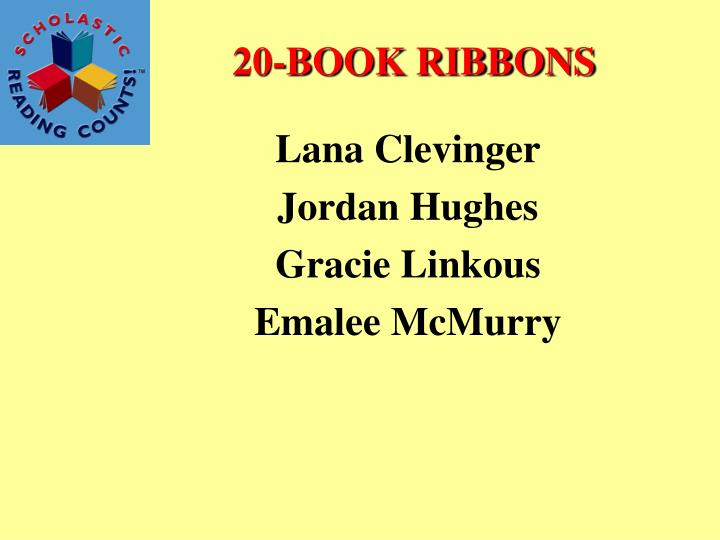 20-BOOK RIBBONS