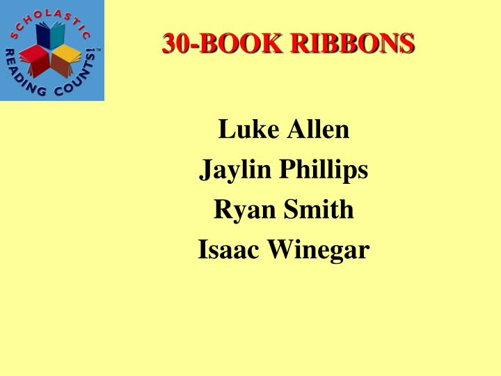 30-BOOK RIBBONS
